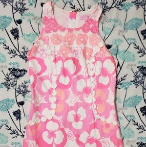 lilly pulitzer size 00 pink floral dress